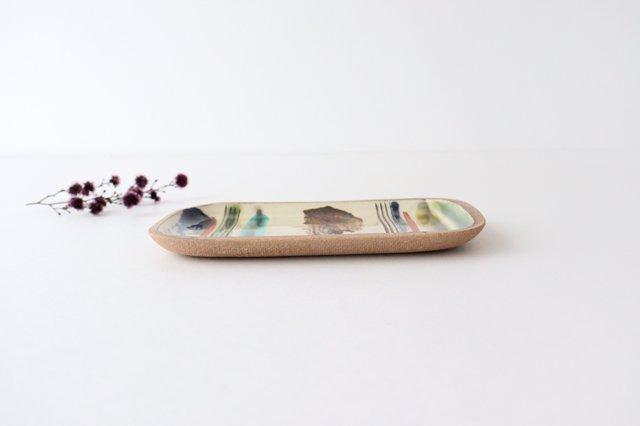 角皿 小 ストライプ 陶器 一翠窯 やちむん 画像4