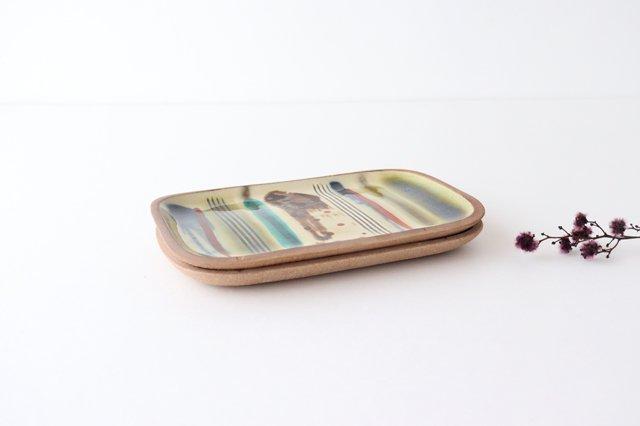 角皿 小 ストライプ 陶器 一翠窯 画像6