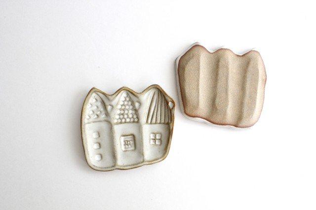 豆皿 三角家 白 陶器 キエリ舎 画像3
