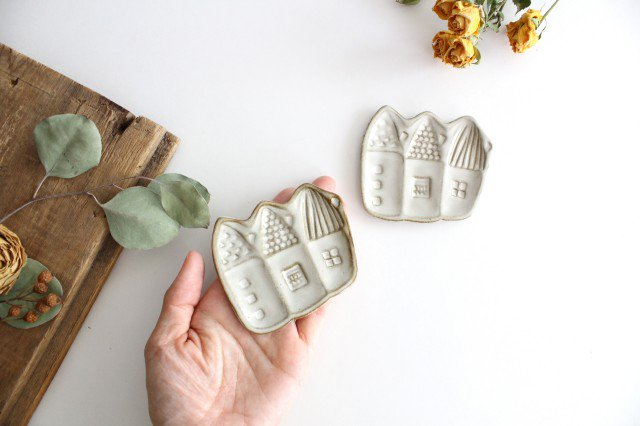 豆皿 三角家 白 陶器 キエリ舎 画像4