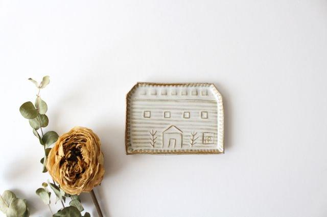 豆皿 四角家 白 陶器 キエリ舎