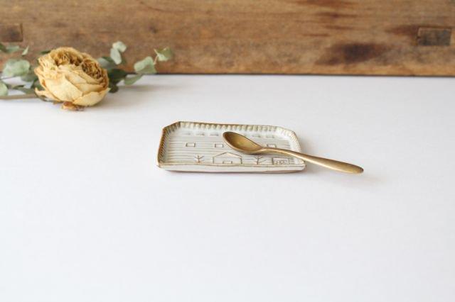 豆皿 四角家 白 陶器 キエリ舎 画像2