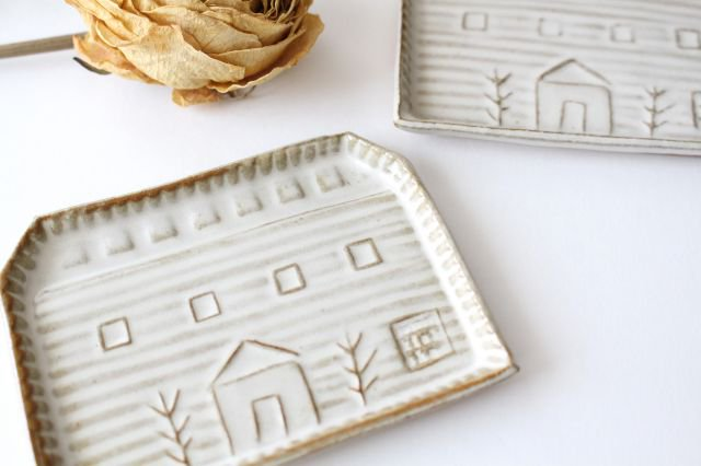 豆皿 四角家 白 陶器 キエリ舎 画像4