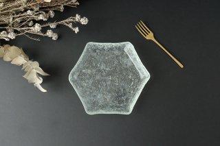 六角皿 ガラス liir 森谷和輝商品画像