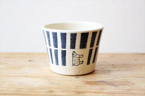 ブルーラインシロクマそばちょこ 陶器 東峯未央商品画像