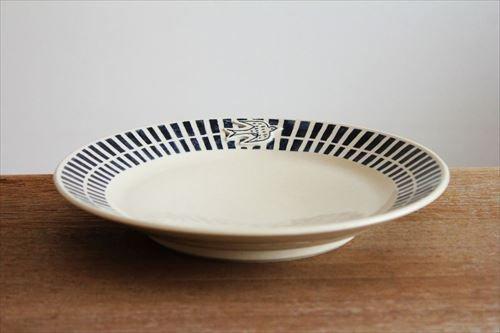 ブルーラインツバメ大皿 陶器 東峯未央 画像4