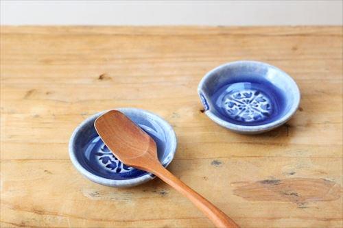 スプーンレスト ブルー 陶器 東峯未央商品画像