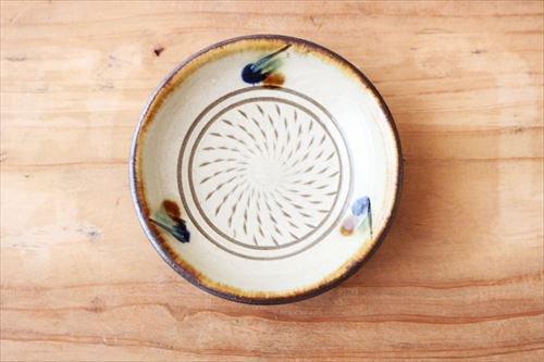 3寸皿 トビカンナ 陶器 一翠窯商品画像