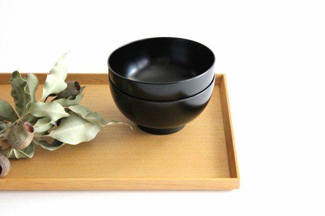 越前塗りの汁椀(食器洗浄機対応) 黒 松屋漆器店 画像4