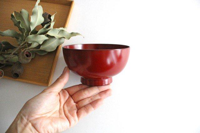 越前塗りの汁椀【食器洗浄機対応】 朱 松屋漆器店 画像2