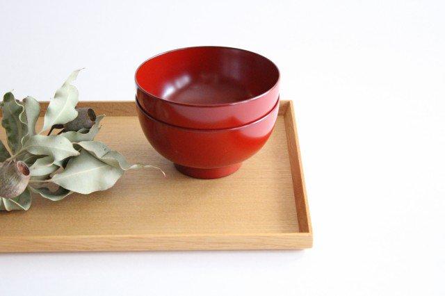 越前塗りの汁椀(食器洗浄機対応) 朱 松屋漆器店 画像4