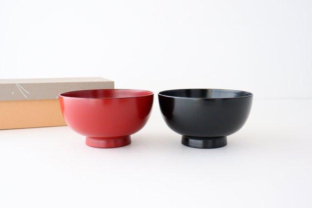 越前塗りの汁椀(食器洗浄機対応)夫婦セット 松屋漆器店 画像2