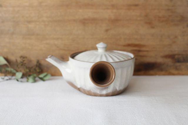 菊型粉引急須 陶器 萬古焼 画像3