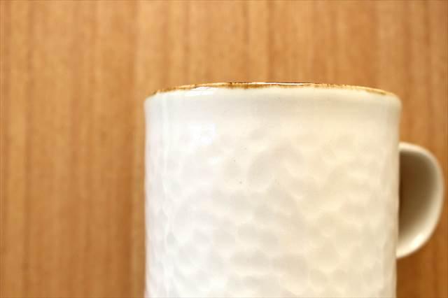 Nadeboriマグカップ L ホワイト 半磁器 アトリエキウト 小出麻紀子 画像6