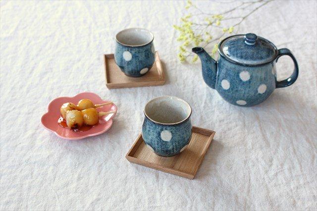 美濃焼 ドット【ポット&湯のみ2個】セット 陶器 画像2