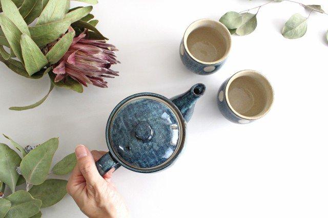 美濃焼 ドット【ポット&湯のみ2個】セット 陶器 画像5