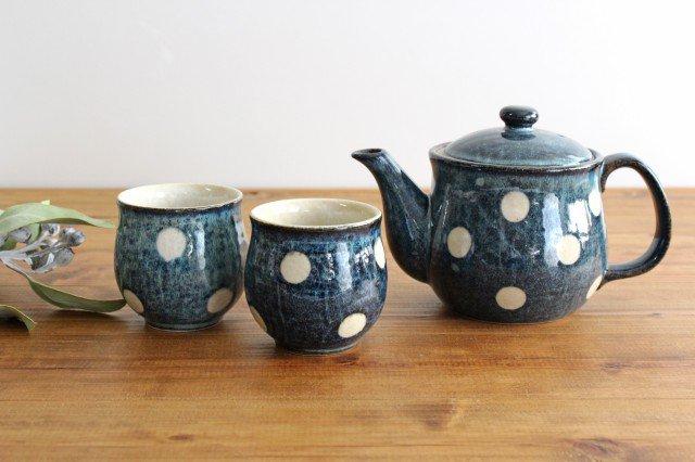 美濃焼 ドット【ポット&湯のみ2個】セット 陶器 画像6