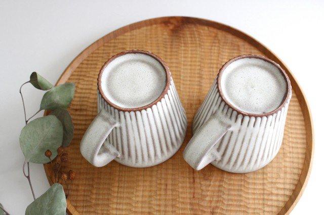 マグカップ M しのぎ 陶器 シモヤユミコ 画像2
