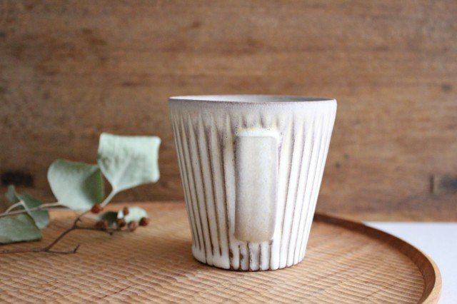 マグカップ M しのぎ 陶器 シモヤユミコ 画像4