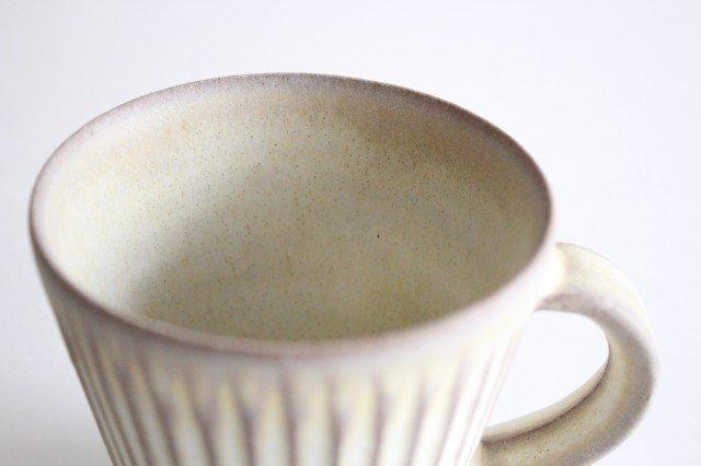 マグカップ M しのぎ 陶器 シモヤユミコ 画像5