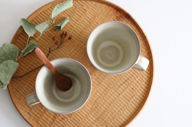 マグカップ M しのぎ 陶器 シモヤユミコ 画像6