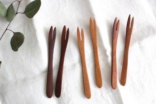 ナチュラルな木の二股フォーク商品画像