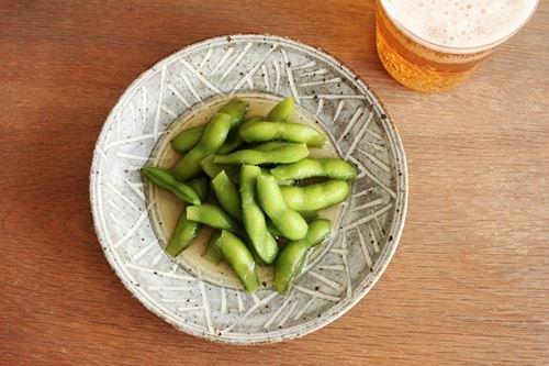 5寸皿 砂唐津三島 陶器 美濃焼