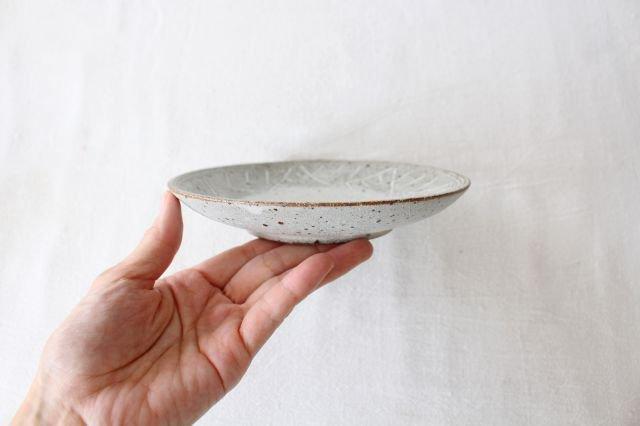 5寸皿 砂唐津三島 陶器 美濃焼 画像2