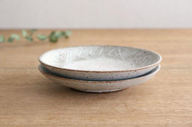 5寸皿 砂唐津三島 陶器 美濃焼 画像4
