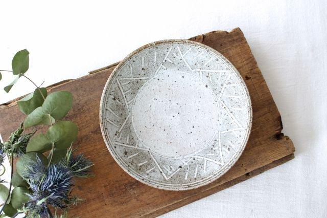 5寸皿 砂唐津三島 陶器 美濃焼 画像6