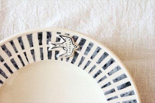 ブルーライン ツバメプレート 陶器 東峯未央 画像3