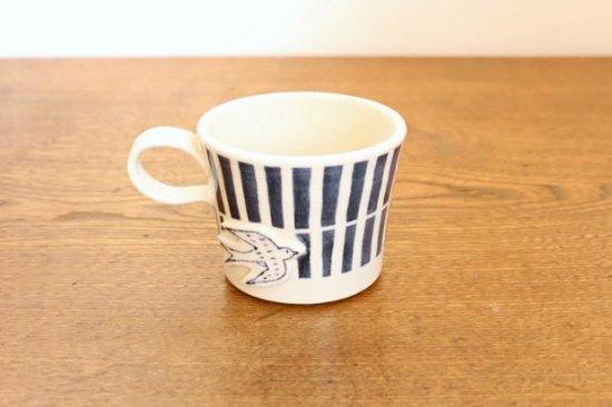 ブルーライン ツバメマグカップ 陶器 東峯未央商品画像