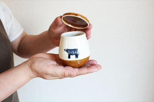 クマのシュガーポット 陶器 東峯未央 画像6