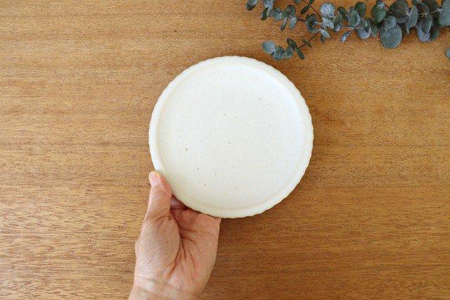 おやつ皿 きなりマット 陶器 たくまポタリー 画像2