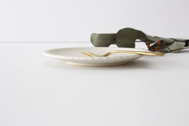 おやつ皿 きなりマット 陶器 たくまポタリー 画像5