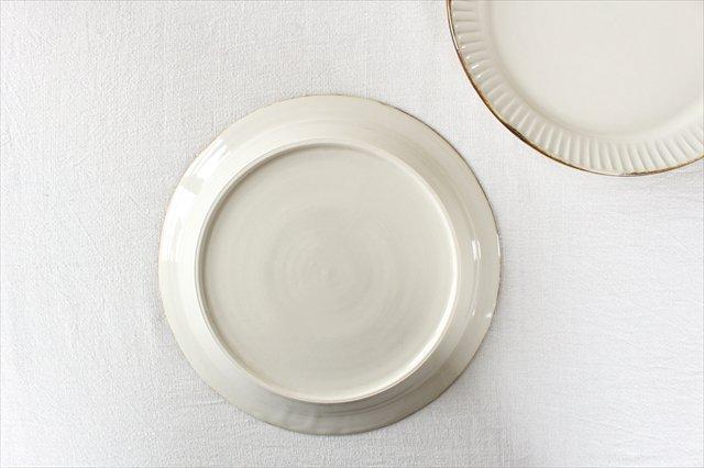 Tatebori リム平皿 ホワイト 半磁器 アトリエキウト 小出麻紀子 画像6