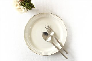 Tatebori リム平皿 ホワイト 半磁器 アトリエキウト 小出麻紀子商品画像