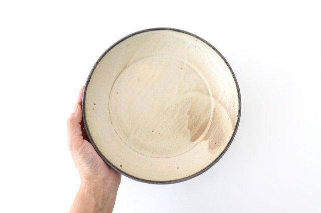 7寸リム皿 白黒 陶器 寺田昭洋 画像4