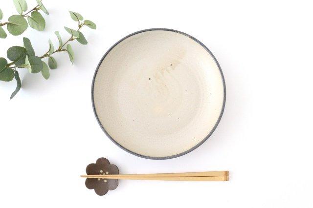 7寸リム皿 白黒 陶器 寺田昭洋 画像5