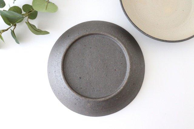 7寸リム皿 白黒 陶器 寺田昭洋 画像6