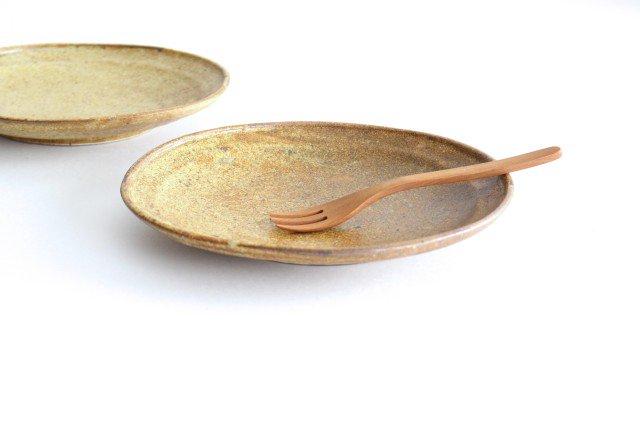 オーバル皿 中 わら灰 陶器 庄司理恵 画像2
