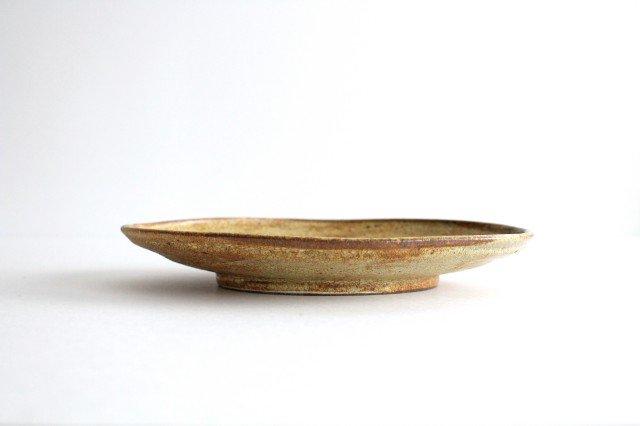 オーバル皿 中 わら灰 陶器 庄司理恵 画像3