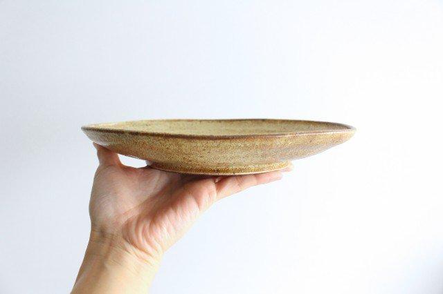 オーバル皿 中 わら灰 陶器 庄司理恵 画像5