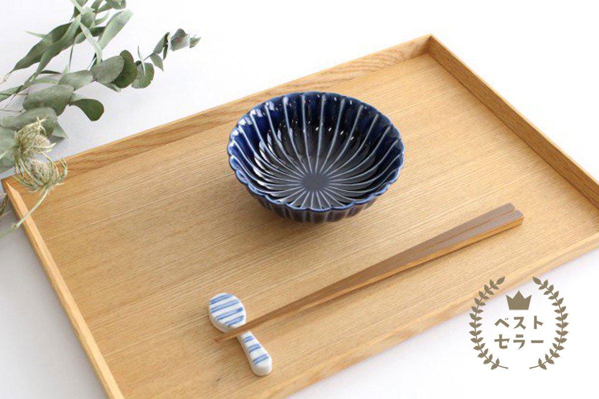 美濃焼 ぎやまん4寸鉢 茄子紺(青) 磁器