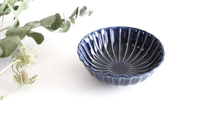 美濃焼 ぎやまん4寸鉢 茄子紺(青) 磁器 画像2