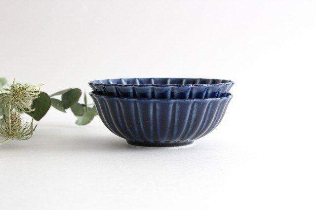 美濃焼 ぎやまん4寸鉢 茄子紺(青) 磁器 画像5