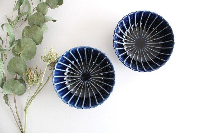 美濃焼 ぎやまん4寸鉢 茄子紺(青) 磁器 画像6