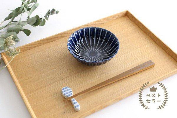 美濃焼 ぎやまん4寸鉢 茄子紺(青) 磁器商品画像