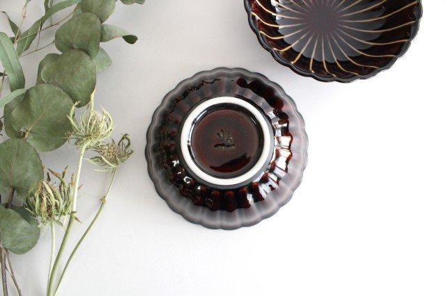 美濃焼 ぎやまん4寸鉢 漆(茶) 磁器 画像3