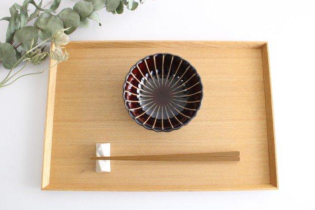 美濃焼 ぎやまん4寸鉢 漆(茶) 磁器 画像4